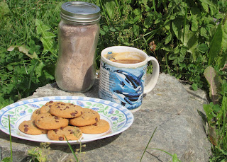 Russian tea mix, tea and cookies