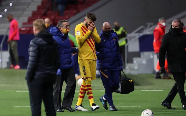 رسميا.. أعلن برشلونة عن حجم إصابة بيكيه وفترة غيابه عن الملاعب