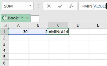 Rumus Excel Pengurangan min