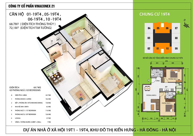 thiết kế chung cư lucky house tòa 19T4