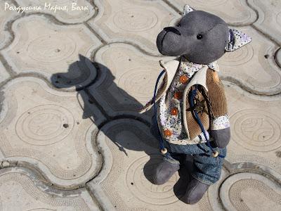 волк ручная работа игрушка
