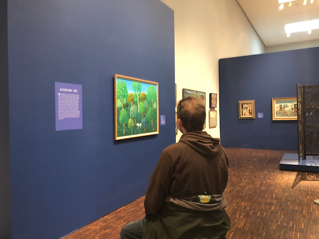 The spaciousness of the Figge's galleries allowed us time for contemplation.
