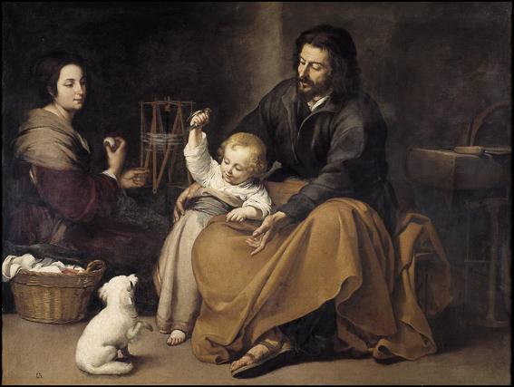 Sagrada familia del pajarito Murillo Museo Prado