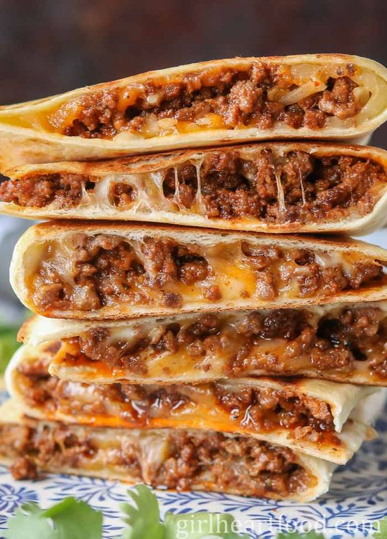 Cheesy Ground Beef Quesadillas Recipes