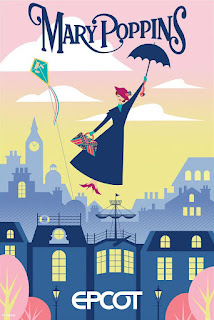 Mary Poppins Epcot Ride Concept Poster