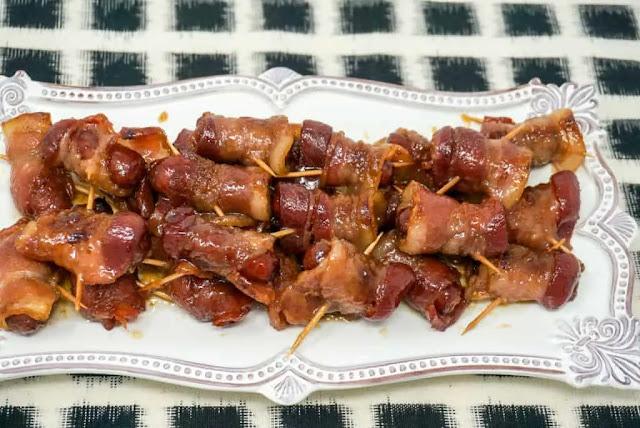 Brown Sugar Bacon-Wrapped Smokies