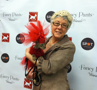 Coco the Cornish Rex cat in NYC Fashion Show