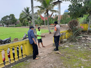 Patroli Kamtibmas Kapolsek Curio Tak Lupa Untuk Selalu Ajak Warganya Patuh Prokes