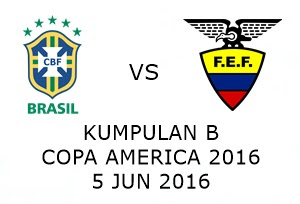 Live Streaming Keputusan Brazil Vs Ecuador 5 Jun 2016