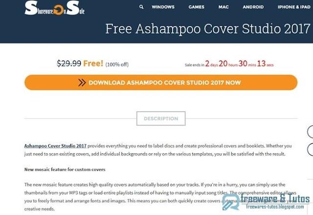 Offre promotionnelle : Ashampoo Cover Studio 2017 gratuit !