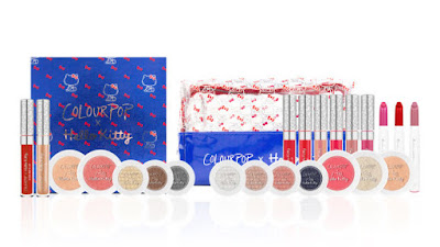 The full Colourpop x Hello Kitty collection.  Photo: Courtesy of Colourpop