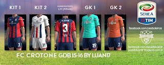 Kit FC Crotone Zeus [2015-2016] Pes 2013