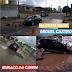 Carro caiu em buraco da CAERN na Miguel Castro