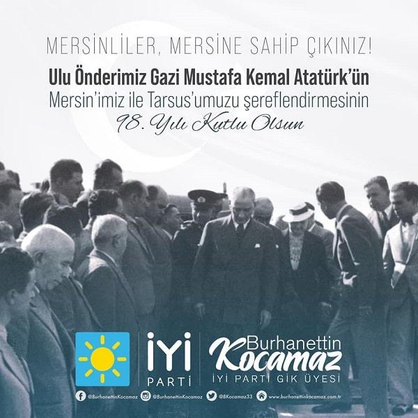 Burhanettin Kocamaz,MERSİN,Mersin Haber,Tarsus,TARSUS HABER,