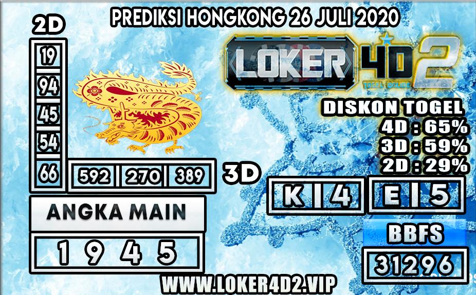 PREDIKSI TOGEL LOKER4D2 HONGKONG 26 JULI 2020
