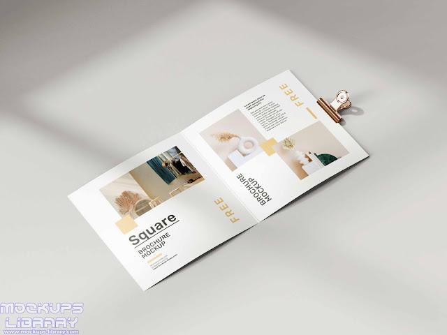 folded square brochure mockup 3