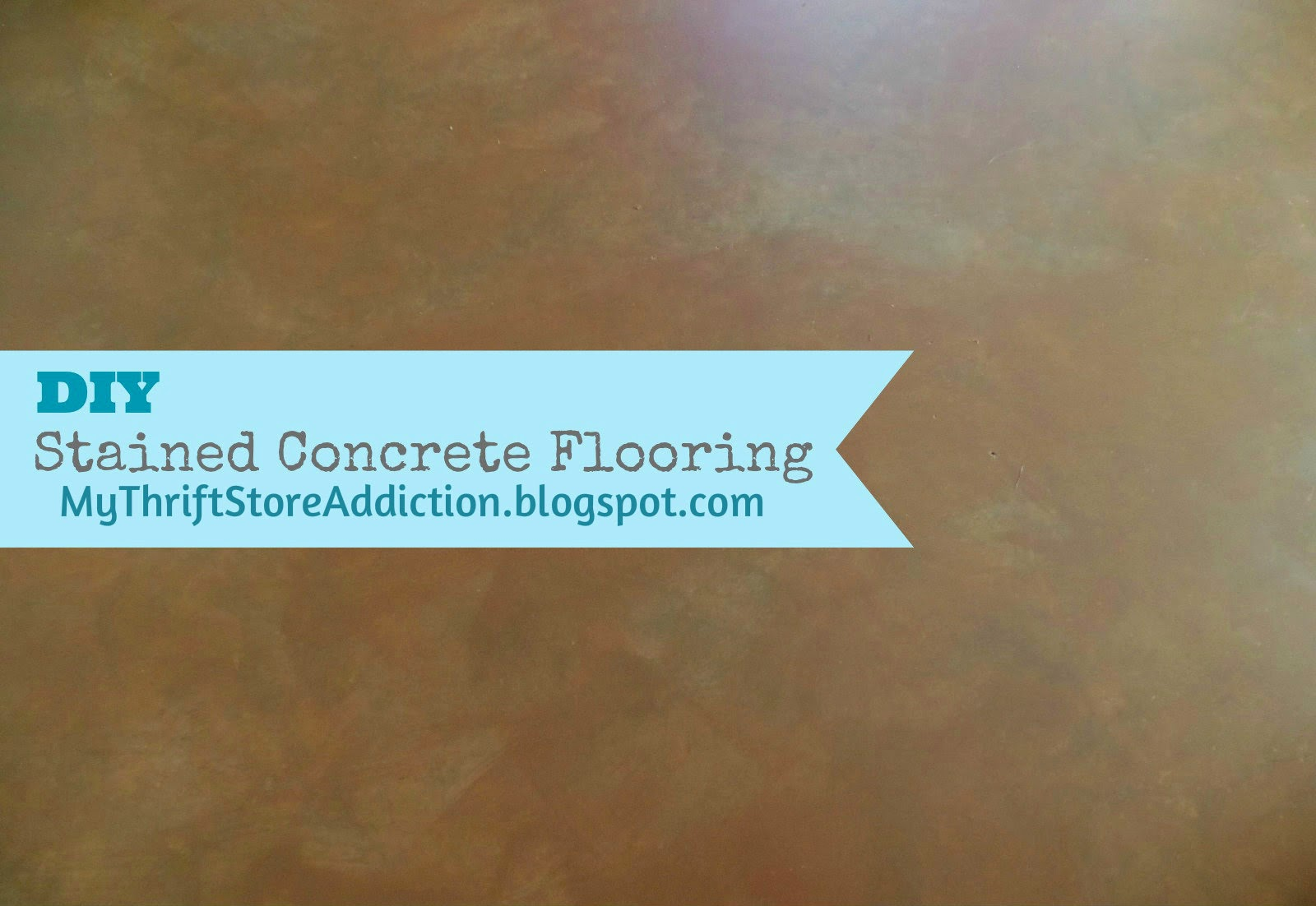 DIY stained concrete flooring