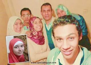نادين جمال مع اسرتها