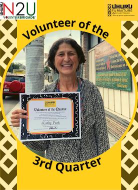 Volunteer of the Quarter!