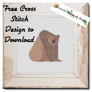 happy bear cross stitch design free to download