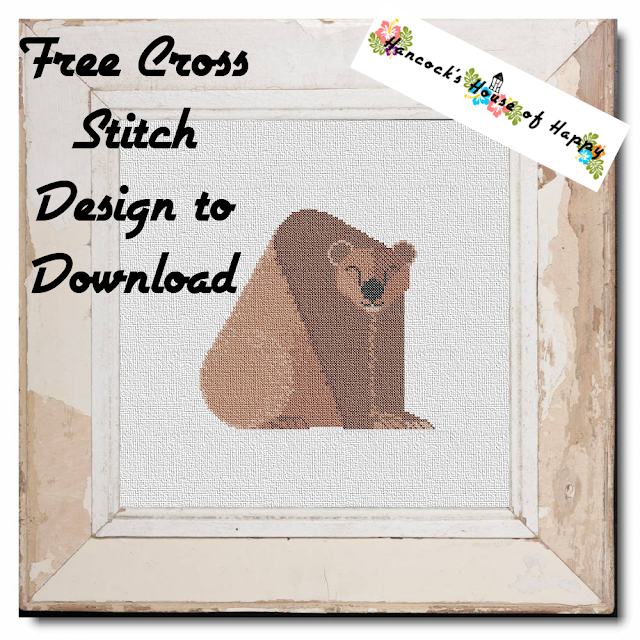 Happy Bear Cross Stitch Design Free to Download PLUS a HUGE Patreon Exclusive