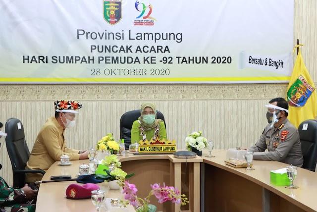 Pemprov Lampung Ikuti Acara Hari Sumpah Pemuda Tahun 2020, Presiden Berharap Sumpah Pemuda Munculkan Energi Positif dalam Mempersatukan Bangsa