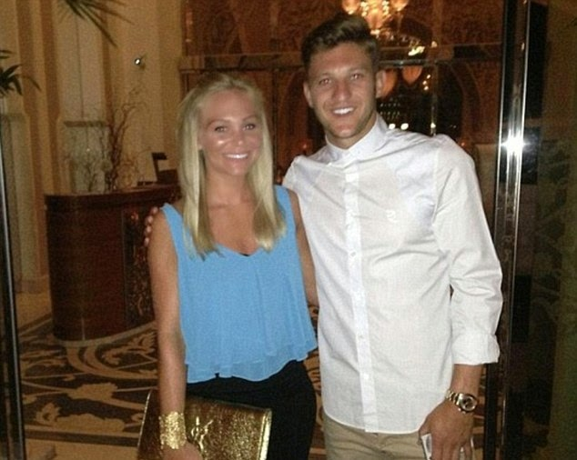 Soccer Player Adam Lallana With Wife Emily Jubb