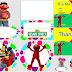 Sesame Street in Colored Polka Dots: Free Printable Kit.