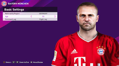 PES 2020 Faces Hans Dieter-Flick by Rachmad ABs