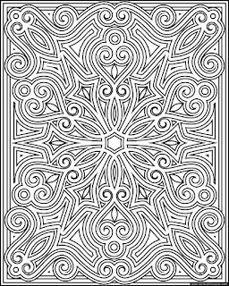 Print and color snowflake page