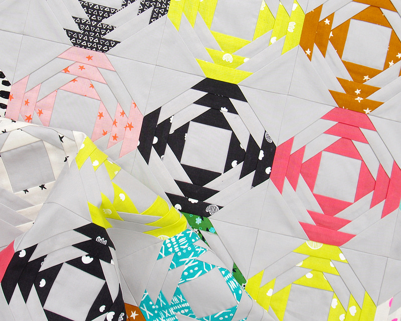 Printshop Pineapple Quilt - Work in Progress | © Red Pepper Quilts 2016