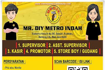Lowongan Kerja Bandung Karyawan MR. DIY Metro Indah