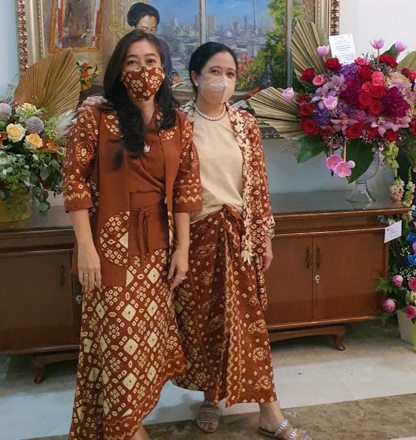 Lebaran Pertama, Ketua DPR RI Puan Maharani Bareng Mantan Presiden Megawati Kompak Pakai Gambo Muba