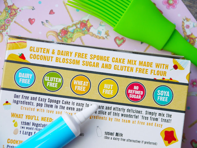 Free and Easy cake mix box