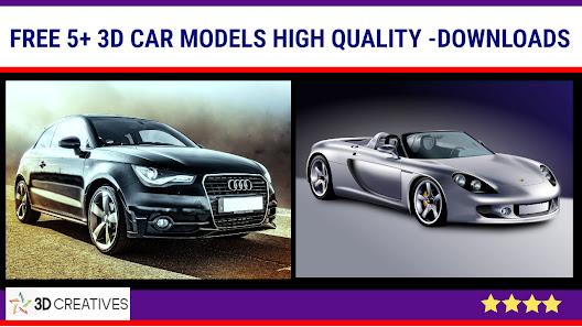 3Ds max 5+ Free 3D Car models downloads