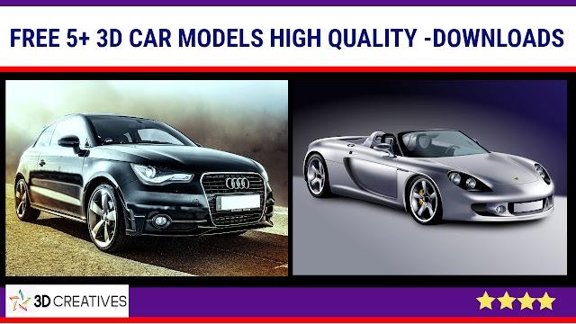 3Ds max 5+ Free 3D Car models - Downloads & Import
