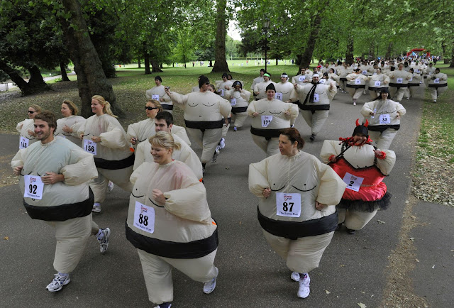 World record for a mass Sumo suit gathering