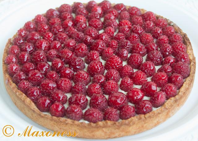 Открытый пирог с малиной от Гордона Рамзи. Французская кухня