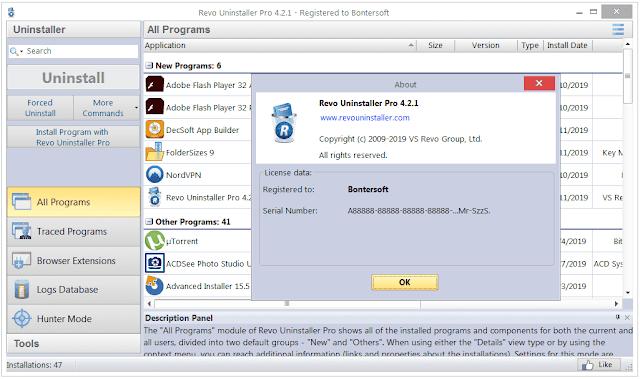 Screenshot Revo Uninstaller Pro 4.2.1 Full Version