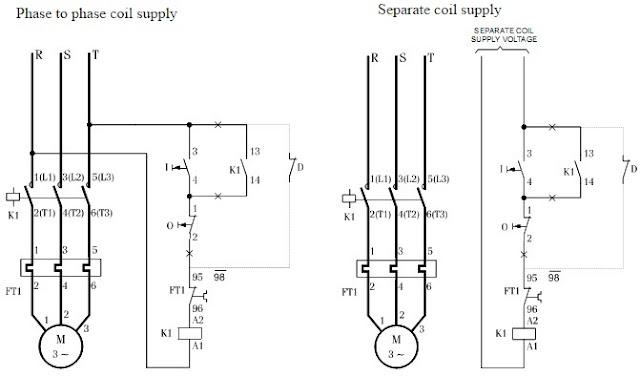 wiring diagram for dol motor starter