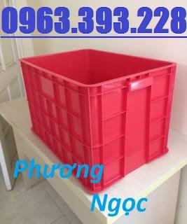 Thùng nhựa đặc có nắp cao 39, sóng nhựa HS026, thùng nhựa đặc HS026, thùng nhựa nguyên sinh