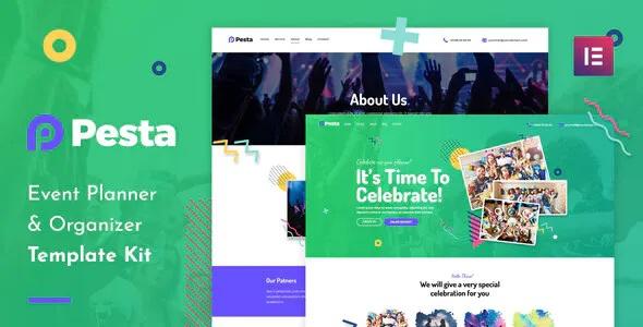 Best Event Planner & Organizer Elementor Template Kit