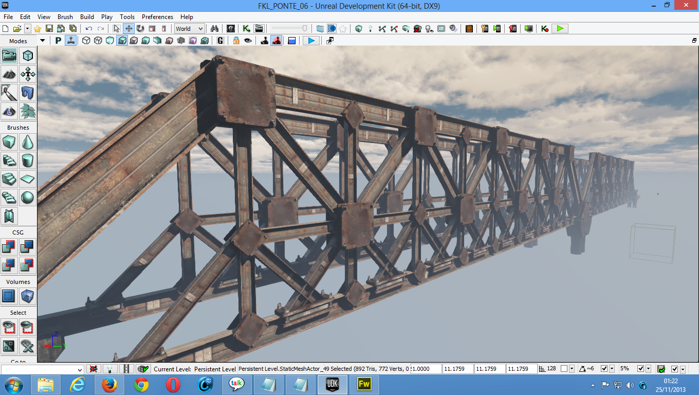 Tutorial Unreal Engine 3 Level Design Creating Iron Bridge With 3 Static Meshes Epic Games Forums