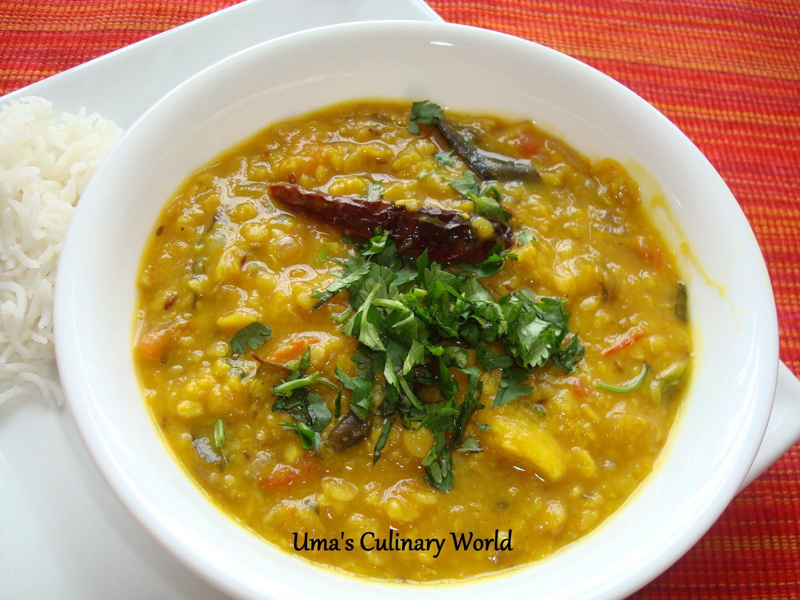 Uma's Culinary World: Dal Tadka or Dal Fry