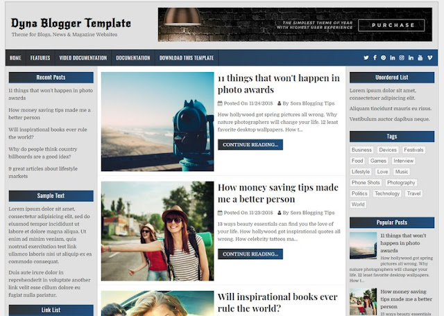 DYNA-Blogger-Template