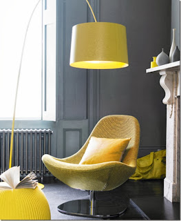 Decorar con gris y amarillo