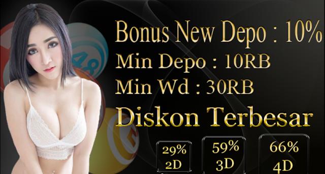Main Togel Online Dapat Bonus 10% Setiap Kali Deposit Di Togelpakong.com