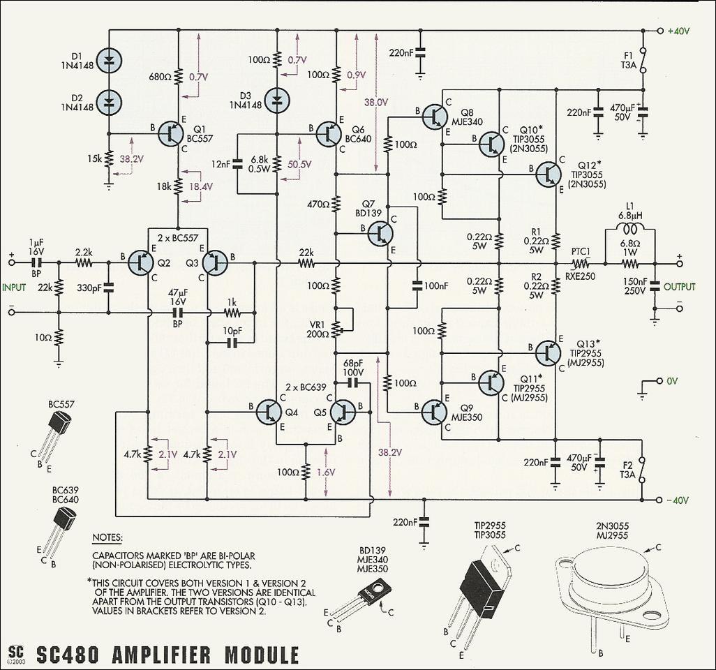 50w 70w power amplifier with 2n3055 mj2955 [ 1026 x 960 Pixel ]