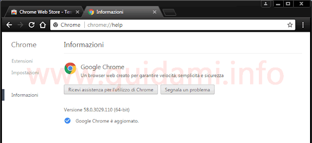 Chrome tema scuro