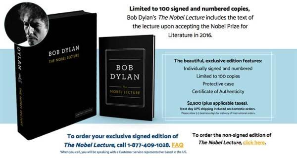BOB DYLAN: Σε βιβλίο η ομιλία του για το Νόμπελ Λογοτεχνίας